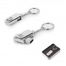 4 GB Döner Kapaklı Metal Anahtarlık USB Bellek